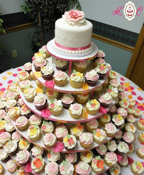 Serve Wedding Cake And by Cupcake Wedding Cakes Cupcake Tower By Heavenly