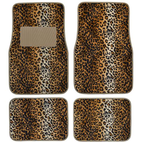 Leopard Car Floor Mats by 4 Premium Set Safari Leopard Carpet Floor Mats