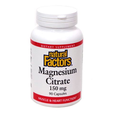 Magnesium Citrate For Detox Of Toxins by Magnesium Citrate 150mg By Factors 90 Capsules