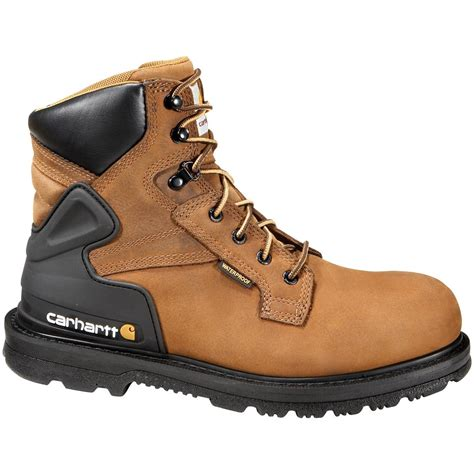waterproof work boots for carhartt s 6 quot waterproof work boots bison brown