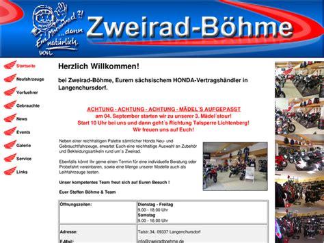 Honda Motorradh Ndler Berlin by Zweirad B 246 Hme In Callenberg Motorradh 228 Ndler