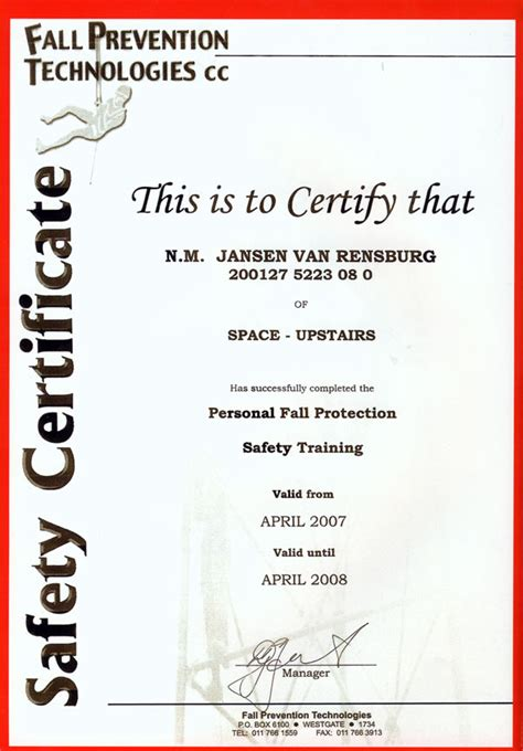 health and safety certificate template certificate building maintenance images