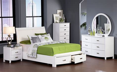 bedroom set white color lyric night stand with tempered glass top white