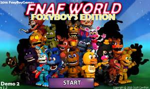Fnaf world foxyboy s edition demo 3 file indie db