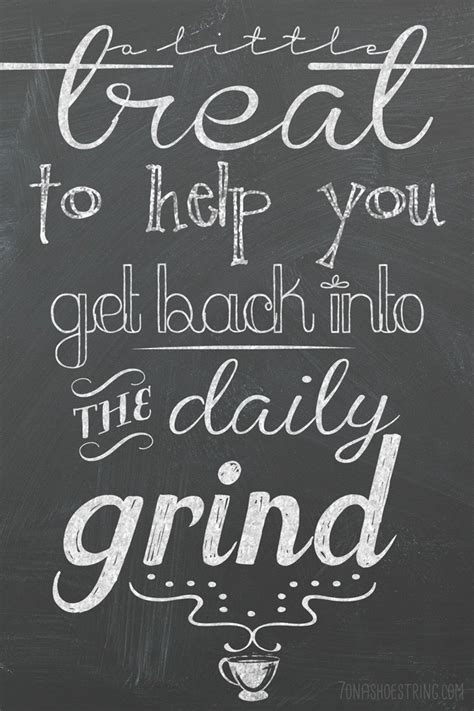 Back To The Grind by Back To School Printables