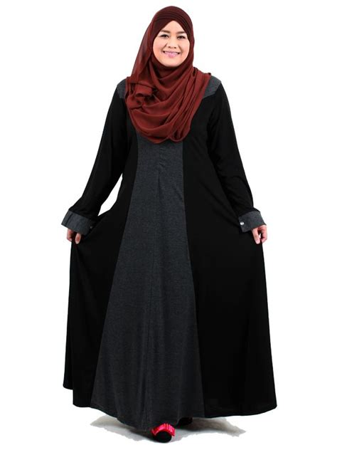 Baju Muslim Gamis Bigsize Hitam Abaya Modern 17 contoh model baju untuk orang gemuk berjilbab modis