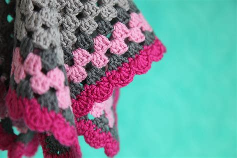 Crochet Edging For Blanket by Elephant Lovie Security Blanket