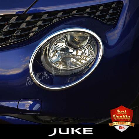 Cover Bumper Bawah Jaring Nissan Juke juke new chrome l front bumper headlight ring trim cover for nissan juke 2011 2017 in