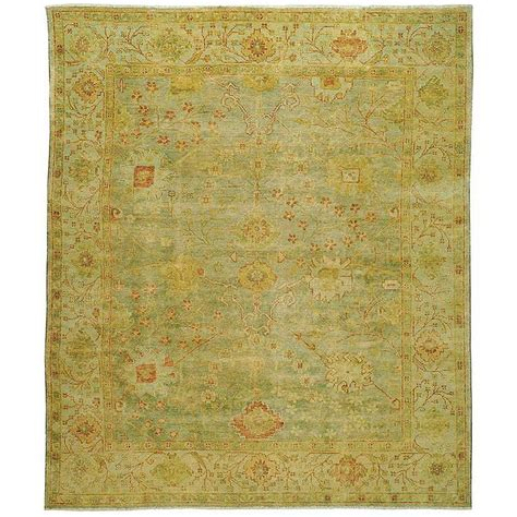 Safavieh Oushak Dark Green Light Green 9 Ft X 12 Ft Area Safavieh Oushak Rugs