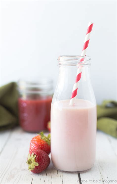 Milk Lover Strawberry Milk strawberry milk syrup made to be a momma