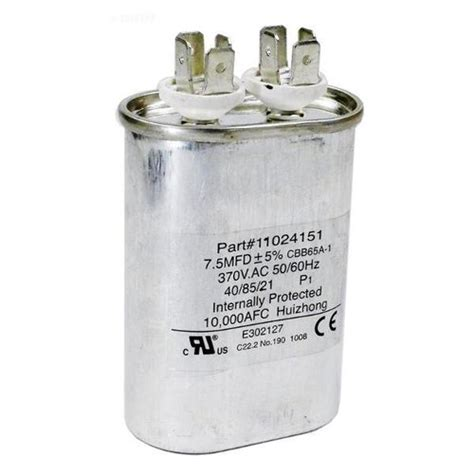 capacitor for pool hayward hpx11024151 fan run capacitor for heatpro