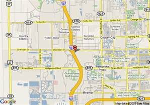 map of pembroke pines florida map of hton inn ft lauderdale west pembroke pines