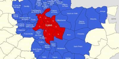 carte de lyon  environs carte de la region de lyon
