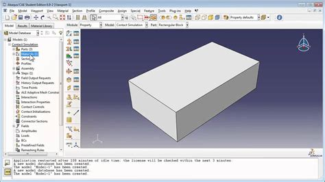 python tutorial abaqus old version contact simulation with abaqus part 1 of 2