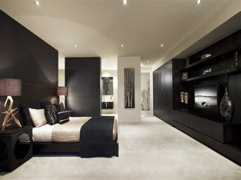 bedroom panelling designs modern bedroom design idea with wood panelling built in shelving using beige colours