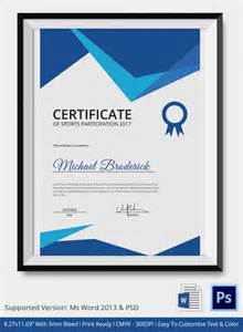 8  Sports Certificate Templates   Free Sample, Example