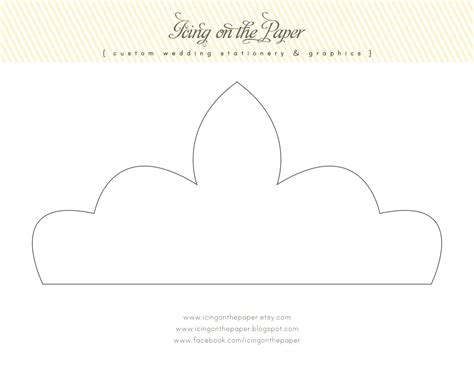 free printable princess crown template icing on the paper free printable tiara