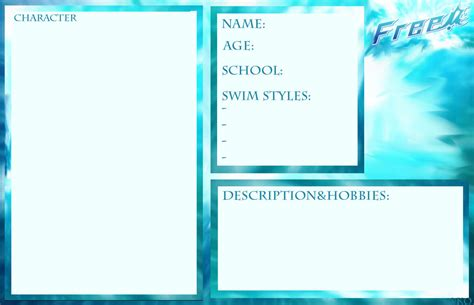 Free Iwatobi Swim Club Template By Goro Ishikawa On Deviantart Swim Team Website Templates