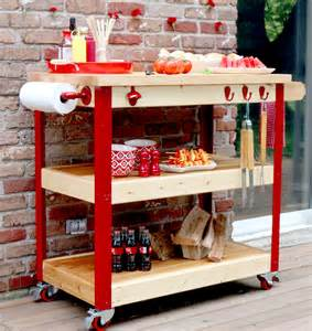 Rolling Kitchen Island Plans How To Build A Rolling Grill Cart