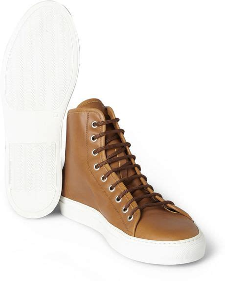 common projects tournament leather high top sneakers in