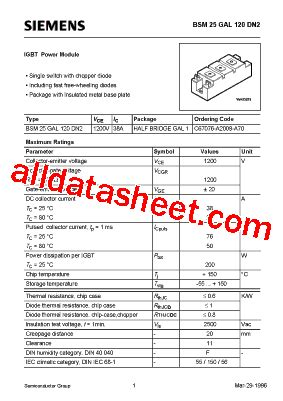 freewheeling diode specifications free wheeling diode part number 28 images bsm400gb60dn2 datasheet pdf siemens semiconductor