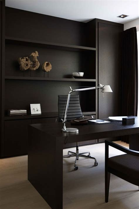 Black Home Office Furniture 25 Best Ideas About Black Office On Black Office Desk Modern Office Design And