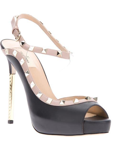 valentino studded sandals valentino studded sandal in black lyst