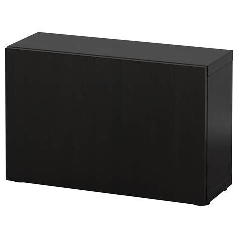 Besta 60x20x38 by Best 197 Shelf Unit With Door Lappviken Black Brown 60x20x38