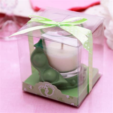 baby shower candle favors peas in a pod baby shower candle favor baby shower