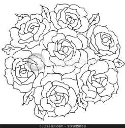 How To Draw A Vase Of Roses 10 Images Of Rose Bouquet Coloring Page Rose Flower