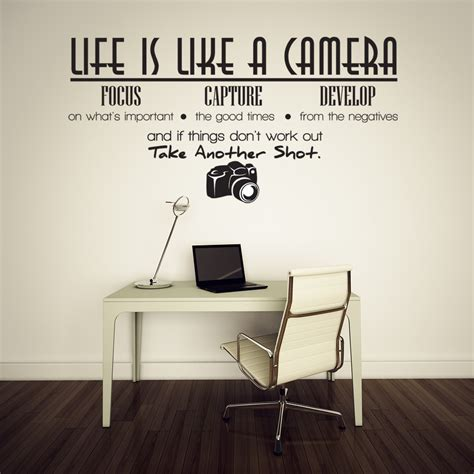 Vinyl Wall Stickers Quotes Life Is Like A Camera Vinyl Wall Lettering Quotes Sayings