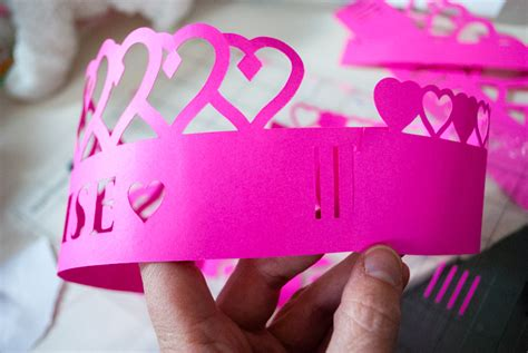 How To Make A Princess Crown Out Of Paper - diy personalized crowns for a princess birthday
