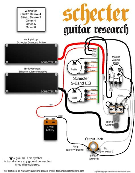 emg wiring diagram 81 85 active emg 3