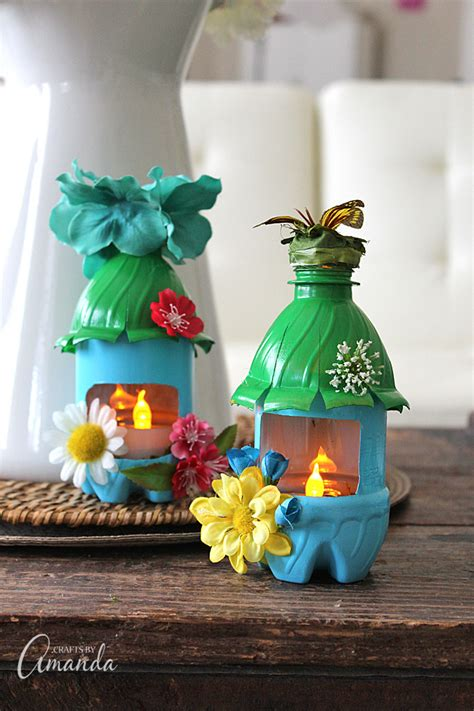 crafts from recycled items house lights from plastic bottles recycle craft