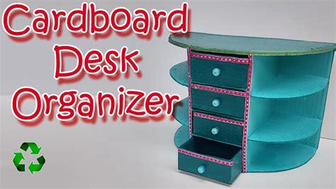 how to make desk organizers how to make a cardboard desk organizer diy crafts