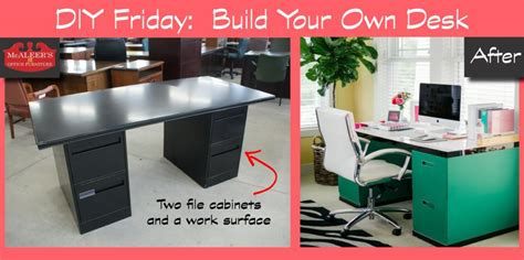 build your own office desk diy friday build your own file cabinet desk mcaleer s