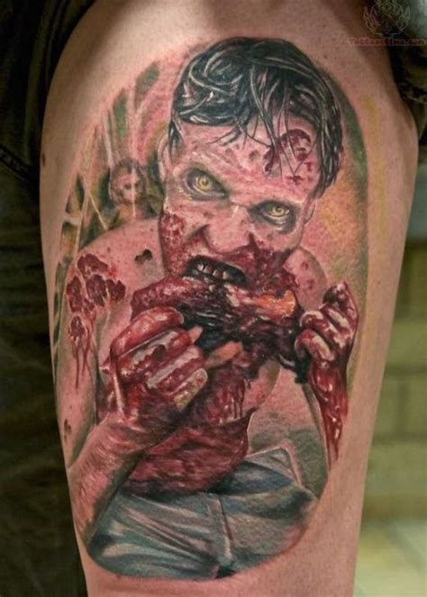 tattoo neck girl walking dead it s scary how good these walking dead tattoos are barnorama