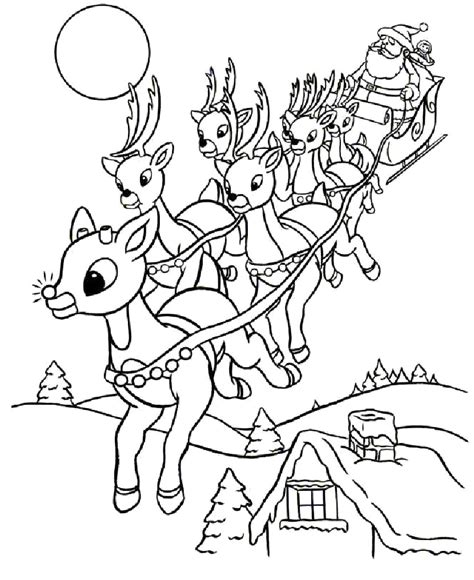 coloring pages of christmas reindeer drawn reindeer coloring book pencil and in color drawn