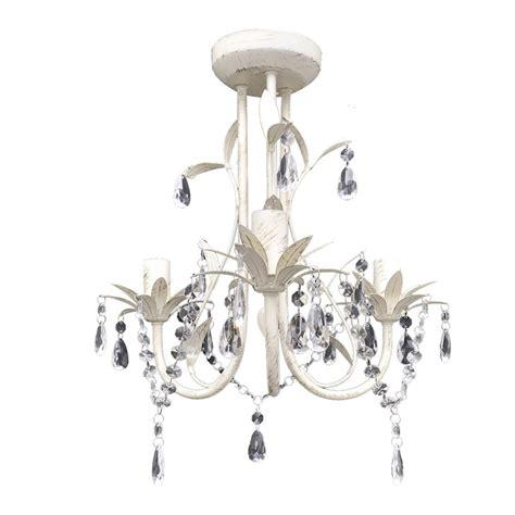 Crystal Pendant Ceiling L Chandelier Elegant White White Pendant Chandelier