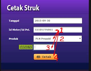 Token Listrik Pln Prabayar 500000 cara cetak struk pln prabayar token pln