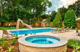 backyard pool designs double pool backyard interior design architecture and