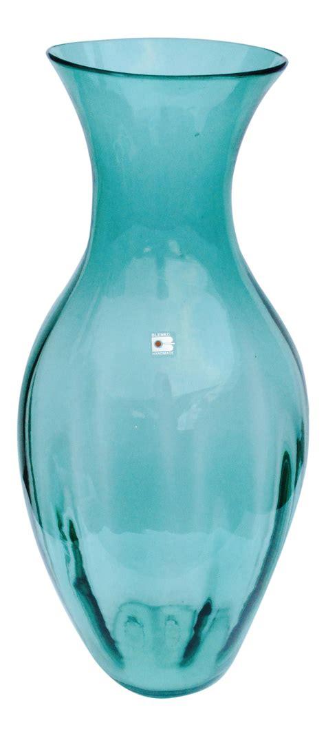 hand blown glass floor ls blenko hand blown art glass floor vase chairish