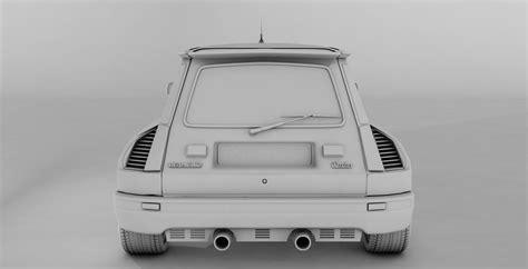 renault 5 maxi renault 5 turbo maxi 3d model c4d tga cgtrader com
