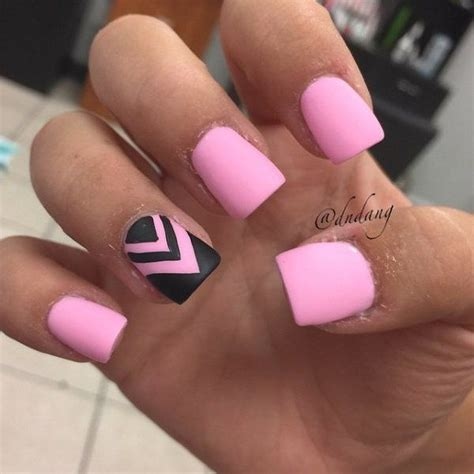 God 01 Stripe 3block Pink 50 beautiful pink and black nail designs 2017
