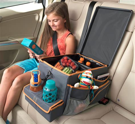 Big Car Organizer Rb a car seat organizer cooler drink station and snack tray with lots of storage for