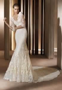 wedding dresses lace 20 of the most stunning sleeve wedding dresses chic