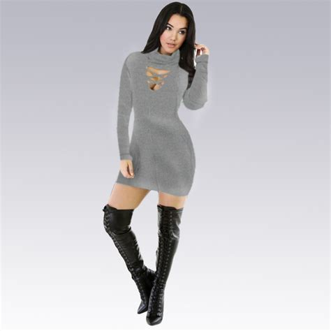 hot winter fashion for women bandage bodycon dress wholesale fashion clothing