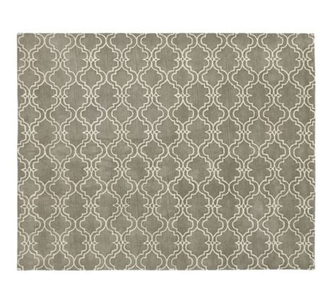Tufted Rug Definition by Scroll Tile Rug Gray Pottery Barn Design Bild