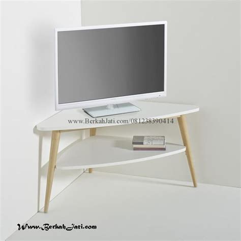 Rak Tv Kayu Akasia rak tv minimalis sudut kayu jati berkah jati furniture