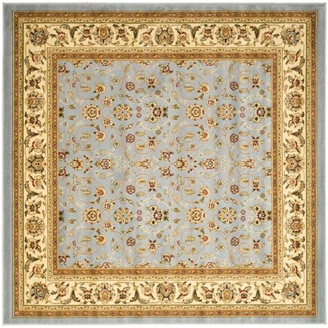 ivory area rugs safavieh lyndhurst light blue ivory 4 ft x 4 ft square area rug lnh312b 4sq the home depot